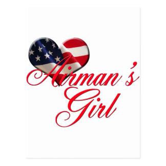airmen' chica de s postal