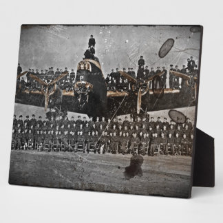 Airmen on an Avro Lancaster Plaque