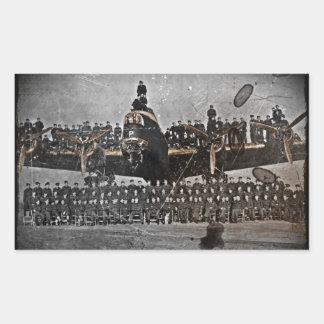 Airmen on an Avro Lancaster Rectangular Sticker