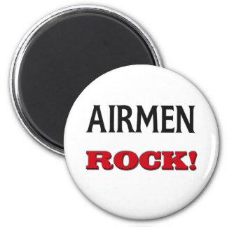 Airmen Rock 2 Inch Round Magnet