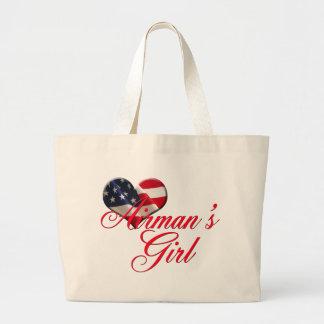 airmen's girl large tote bag