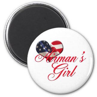 airmen's girl 2 inch round magnet