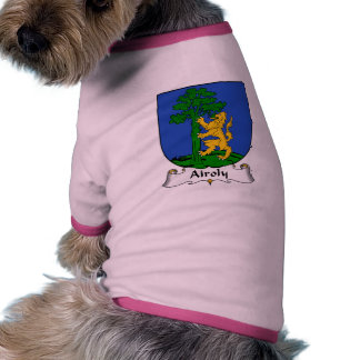 Airoly Family Crest Dog Tshirt