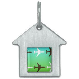 Airplaine Pet Tag