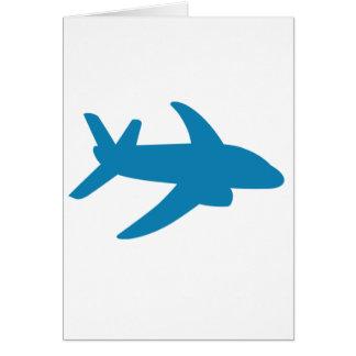 Airplaine Silhoutte Classic Card
