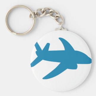 Airplaine Silhoutte Classic Keychain