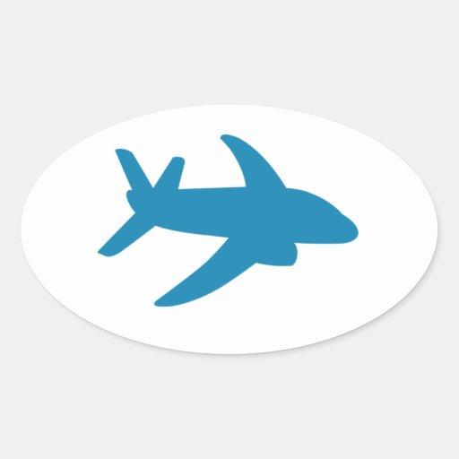 Airplaine Silhoutte Classic Sticker