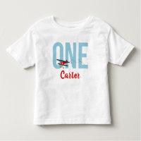 Airplane 1st Birthday T Shirt Boys