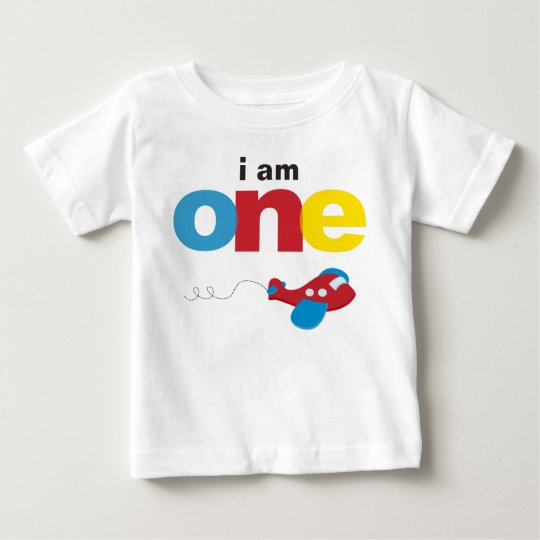 Airplane 1st Birthday T Shirt Toddler Baby Kid