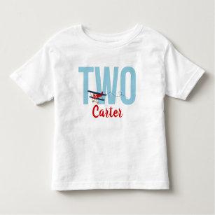 Airplane 2nd Birthday T Shirt Boys