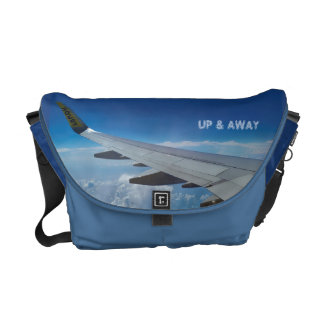 Airplane above the Clouds (customizable) Courier Bag