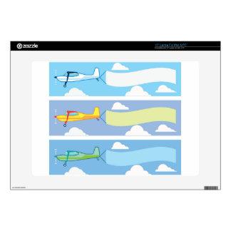 """Airplane advertising 15"""" laptop skins"""