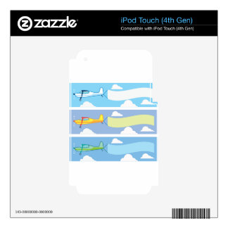 Airplane advertising iPod touch 4G decals