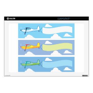 Airplane advertising laptop decals