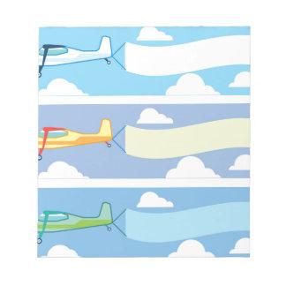 Airplane advertising notepad
