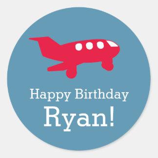 Airplane Aeroplane Birthday Party Sticker
