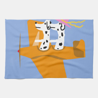 Airplane and Dalmatians Hand Towel