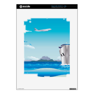 Airplane and Ship 2 Decals For iPad 2