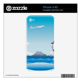 Airplane and Ship 2 Skin For iPhone 4S
