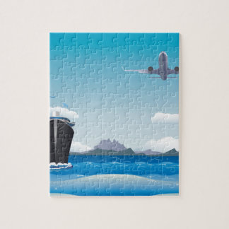Airplane and Ship Jigsaw Puzzle