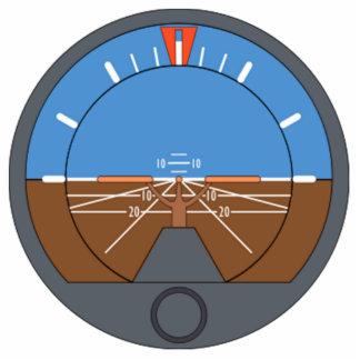 Airplane Attitude Indicator Cutout