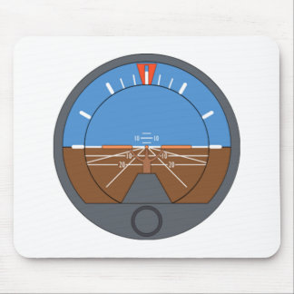 Airplane Attitude Indicator Mouse Pad