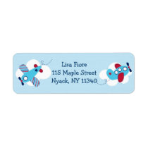 Airplane Aviator Baby Boy Address Labels