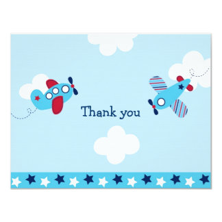 Airplane Aviator Flat Thank You Note Cards