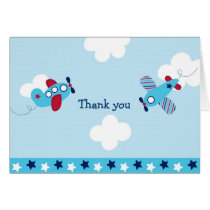 Airplane Aviator Thank You Note Cards
