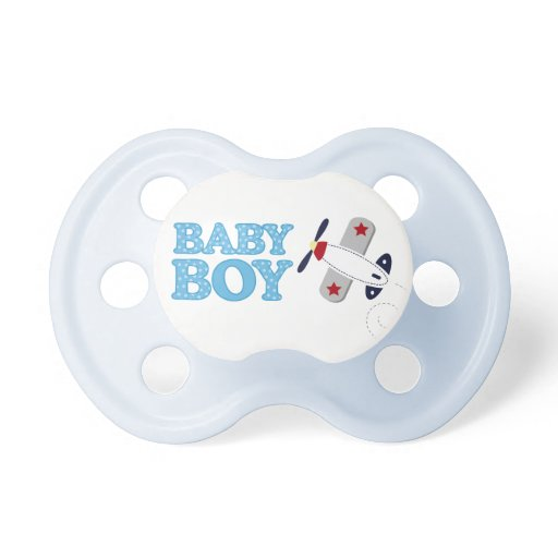 Airplane Baby Boy Baby Pacifier