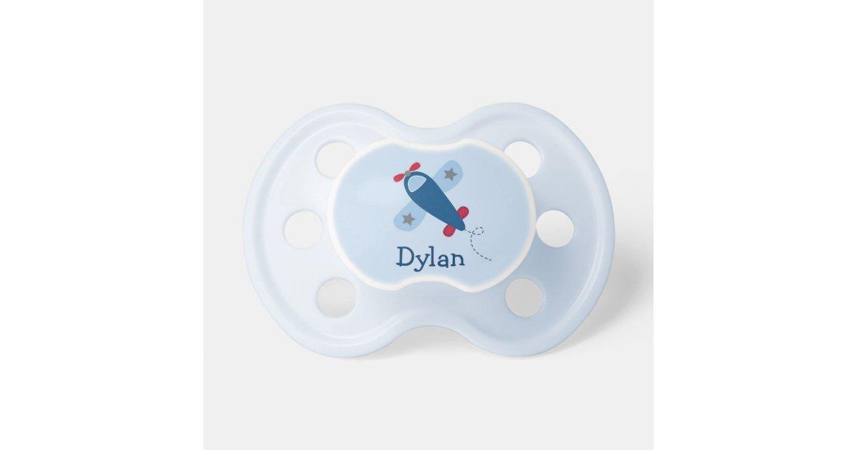 airplane baby boy pacifier zazzle