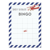 Airplane Baby Shower Bingo Card