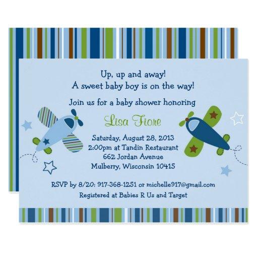 Airplane Baby Shower Card