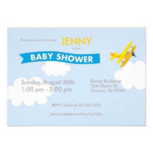 airplane baby shower invitation 5 x 7 invitation card zazzle