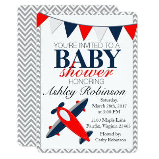 Airplane Baby Shower Invitations Home Design Ideas