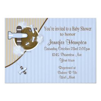 "Airplane Baby Shower Invitation 5"" X 7"" Invitation Card"
