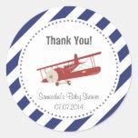 Airplane Baby Shower Thank You Sticker