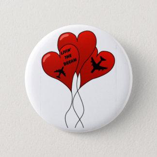 Airplane Balloons Pinback Button