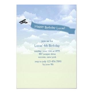 Airplane Banner Invitation