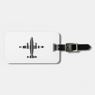 AIRPLANE BAR CODE Jetstream Barcode Pattern Design Luggage Tag