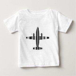 AIRPLANE BAR CODE Jetstream Barcode Pattern Design T Shirt