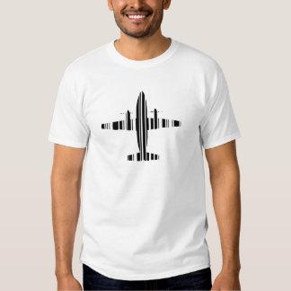 AIRPLANE BAR CODE Jetstream Barcode Pattern Design Tee Shirt