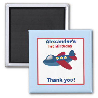 Airplane Birthday Favor Magnet