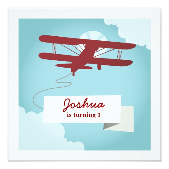 airplane birthday invitation zazzle com