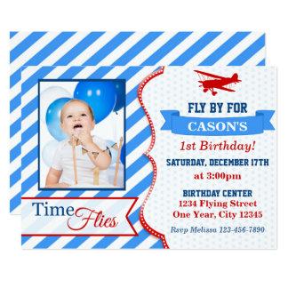 Airplane Birthday Invitation | Photo Invite