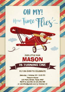 airplane birthday invitations zazzle