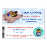 "Airplane Birthday Party 5"" X 7"" Invitation Card"