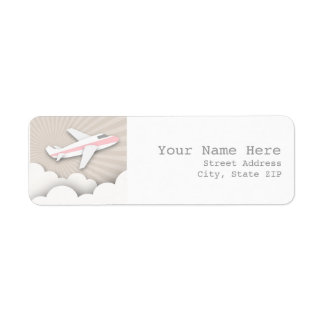 Airplane Birthday Party Address Label