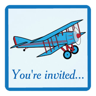 Airplane Birthday Party Card