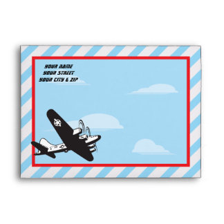 Airplane Birthday Party Envelopes